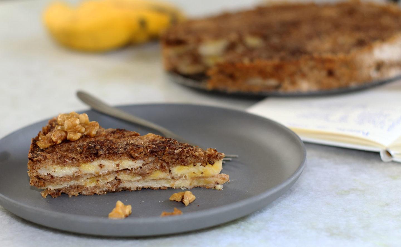 Torta de Banana Caseira e Vegana